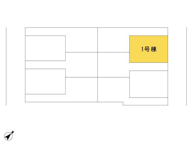 福生市加美平2丁目_1号棟_全体区画図