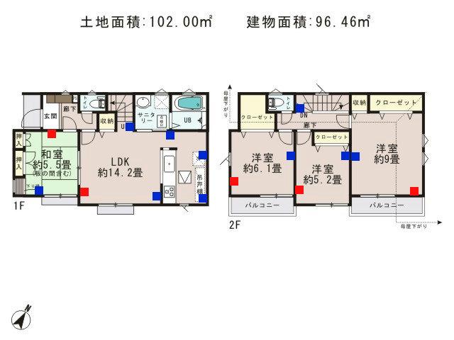 福生市加美平2丁目_10号棟_間取図 - コピー
