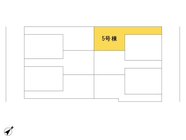 福生市加美平2丁目_5号棟_全体区画図