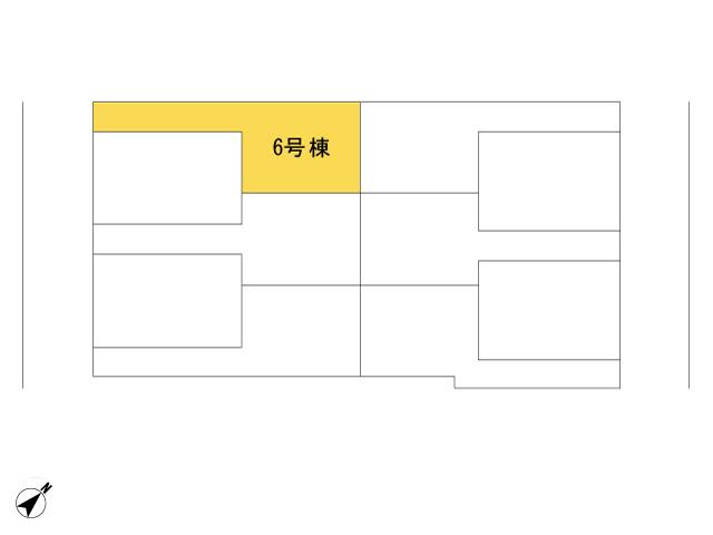 福生市加美平2丁目_6号棟_全体区画図