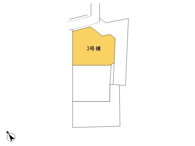 羽村市羽東1丁目_3号棟_全体区画図
