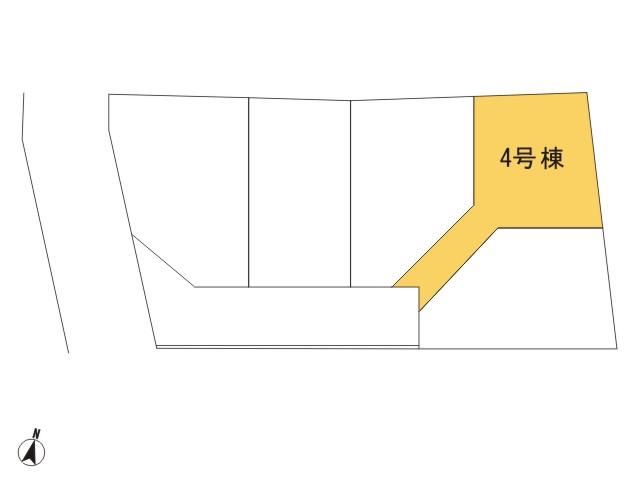 羽村市羽西1丁目_4号棟_全体区画図