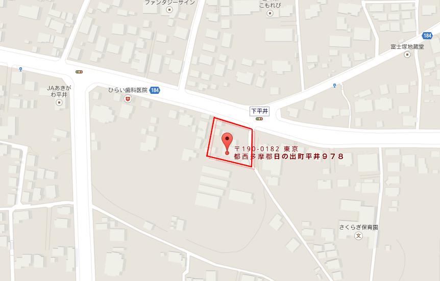 〒190-0182 東京都西多摩郡日の出町平井978 - Google マップ