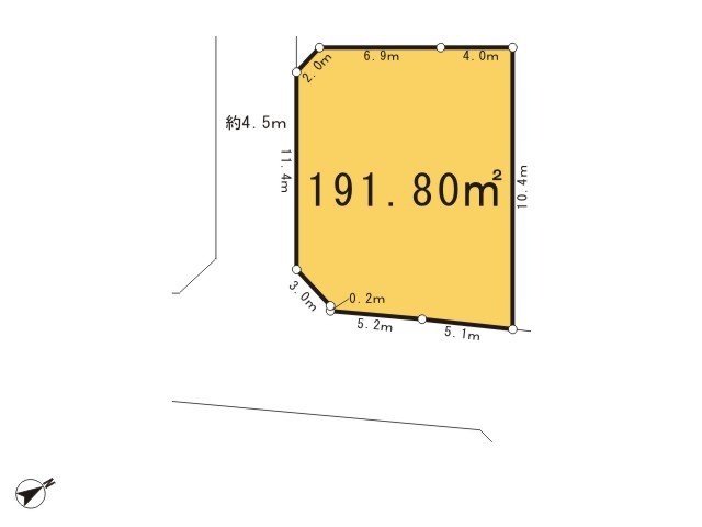 西多摩郡瑞穂町大字石畑_1号区画_区画図