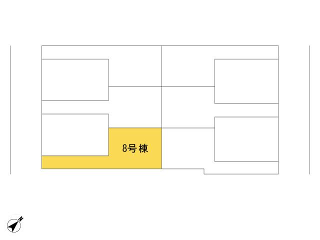 福生市加美平2丁目_8号棟_全体区画図