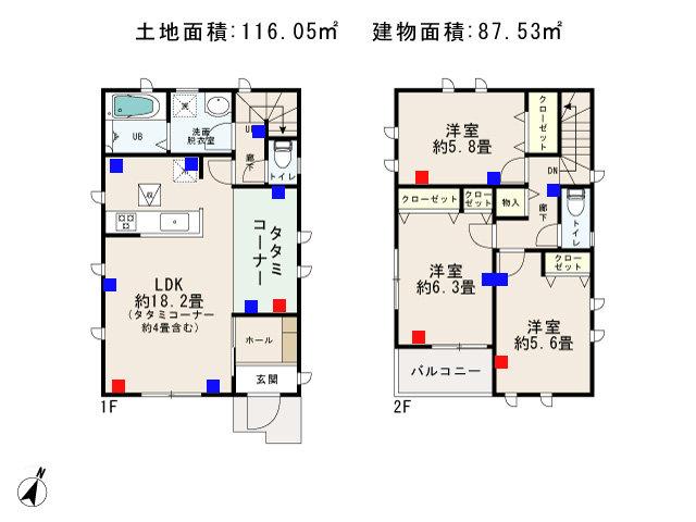 羽村市富士見平2丁目_C号棟_間取図 - コピー