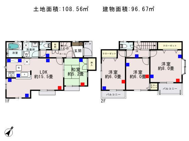 羽村市栄町2丁目_1号棟_間取図 - コピー