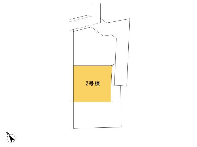 羽村市羽東1丁目_2号棟_全体区画図