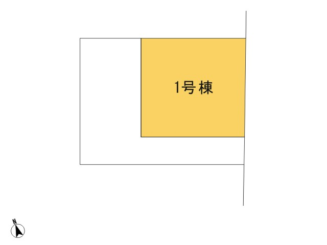 青梅市新町4丁目_1号棟_全体区画図
