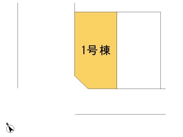 羽村市小作台5丁目_1号棟_全体区画図