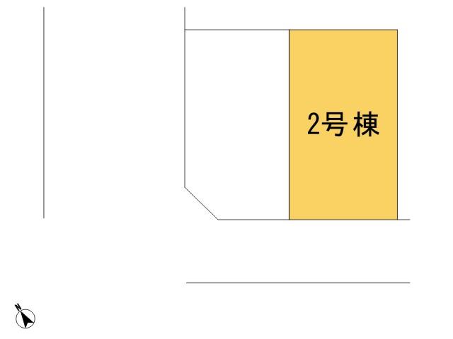 羽村市小作台5丁目_2号棟_全体区画図