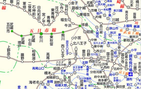 JR五日市線 路線図と駅検索 :マピオン