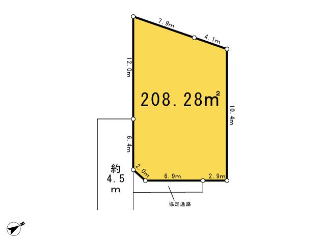 西多摩郡瑞穂町大字石畑_4号区画_区画図