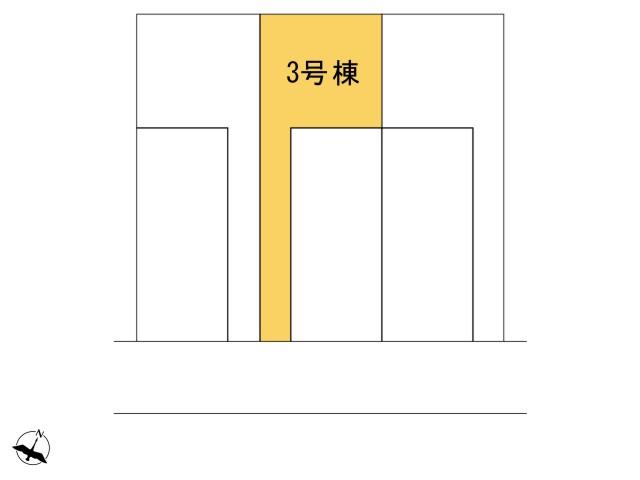 0164425_羽村市緑ヶ丘4丁目_3号棟_全体区画図